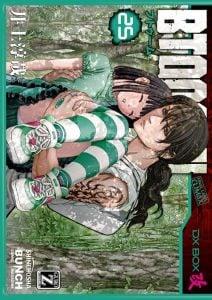 「BTOOOM!」最新25巻ネタバレ。巨乳金髪美女兵士に胸を押し付けられた後に起こる奇跡!