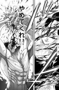 「進撃の巨人」ネタバレ最新104話。砕かれる水晶!これでアニを陵辱できるゲスミン!